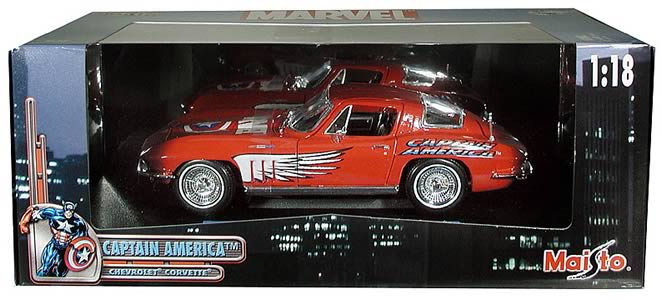 Captain America Corvette 1:18