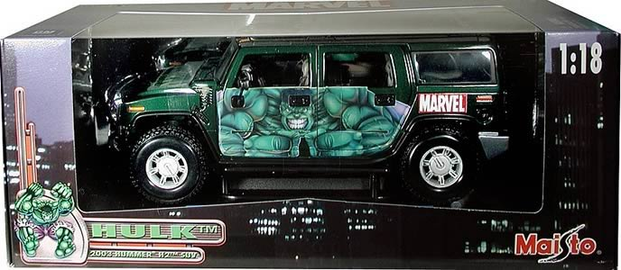 The Hulk Hummer 1:18 Scale