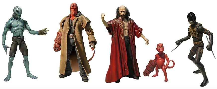 Hellboy 8-inch Series 1 Action Figure Set
