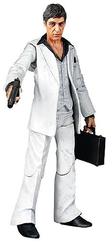 Scarface Realistic-Style White Suit Action Figure
