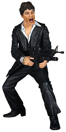 Scarface Realistic-Style Black Suit Action Figure