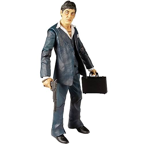 Scarface Realistic-Style Blue Suit Action Figure