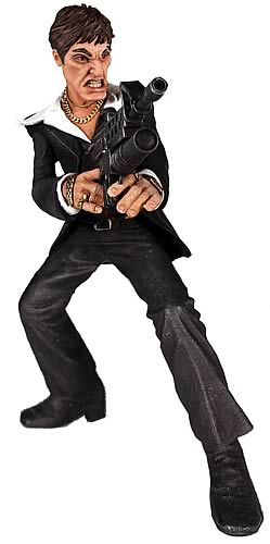 Scarface Talking Black Suit Rotocast Figure