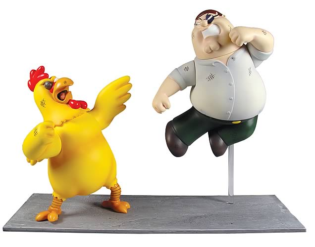 Family Guy Peter Toy : Family guy giant chicken vs peter figure pack mezco