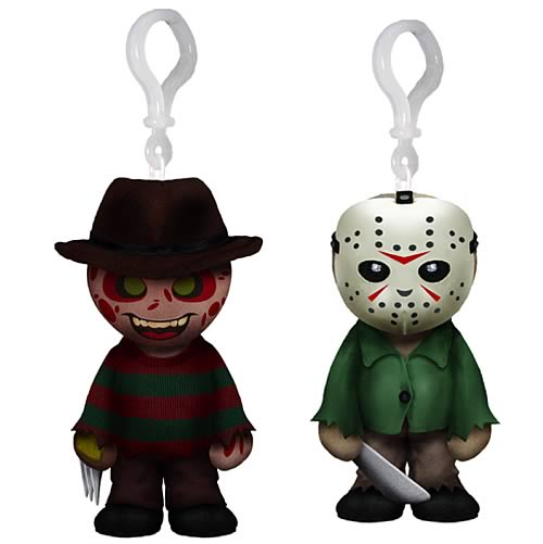 Freddy Krueger and Jason Voorhees Plush Clip Ons Set