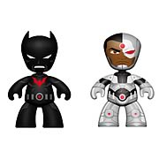 DC Universe Mini Mez-Itz Batman Beyond and Cyborg Figures