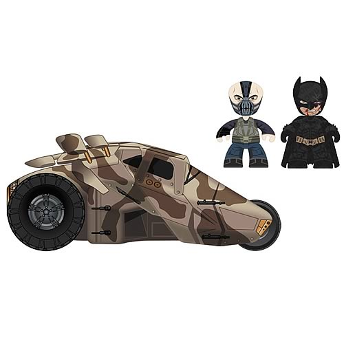 Batman DKR Mini Mez-Itz Bane and Batman with Tumbler Vehicle