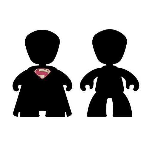 Superman Man of Steel Movie Mini Mez-Itz Figure 2-Pack Set