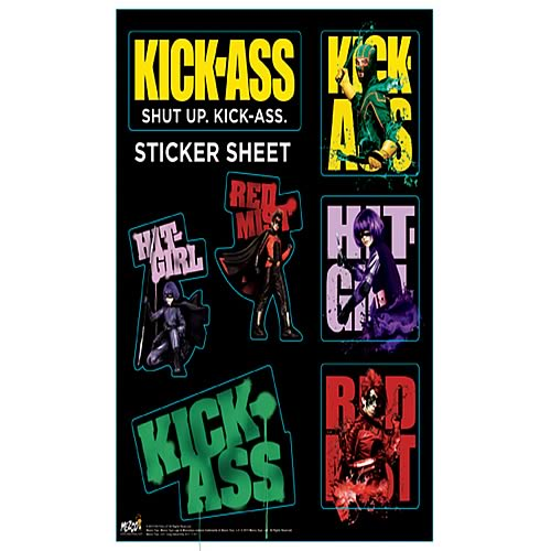 Kick-Ass Sticker Sheet