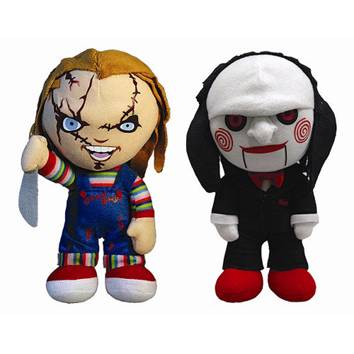 Horror Chucky and Saw Puppet 8-Inch Plush Set
