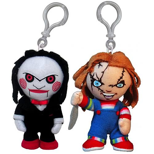 Horror Chucky and Saw Puppet Clip-On Plush Set