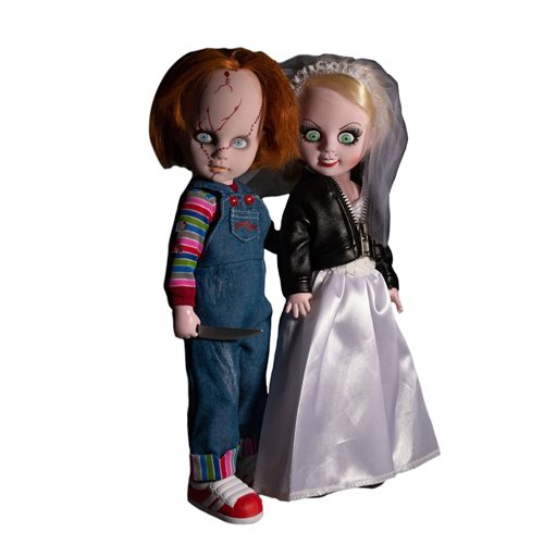 Living Dead Dolls Child's Play Chucky and Tiffany Doll Set
