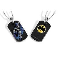 Batman Running Dog Tag Necklace
