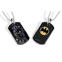 Batman Crouching Dog Tag Necklace