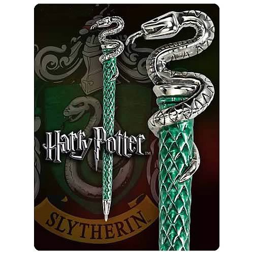 Harry Potter Hogwarts Slytherin House Pen