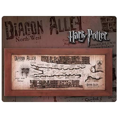 Harry Potter Diagon Alley Map Framed Replica