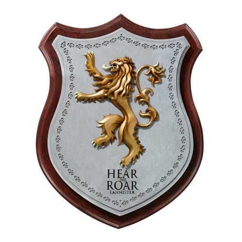 Game of Thrones Lannister Lion House Crest Wall Plaque