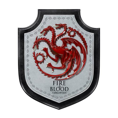Game of Thrones Targaryen Dragon House Crest Wall Plaque