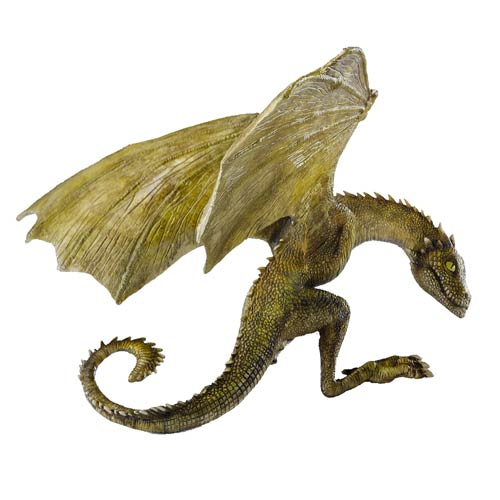 Game of Thrones Rhaegal Baby Dragon Statue