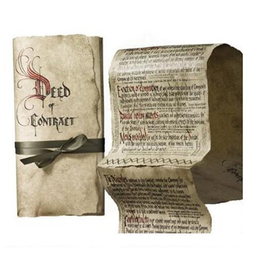 The Hobbit Bilbo Baggins Deed of Contract Prop Replica
