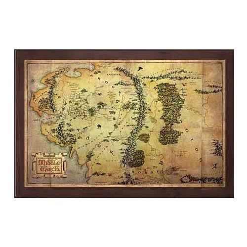 The Hobbit Map of Middle-earth Art Print