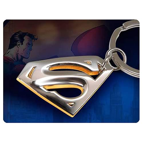 Superman Returns Gold and Silver Plated Key Chain