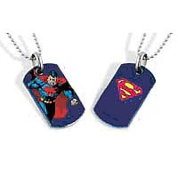 Superman Running Dog Tag Necklace
