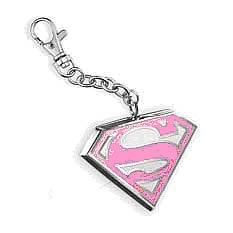 Supergirl Pink Emblem Key Chain