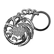 Game of Thrones Targaryen Dragon Gun Metal Finish Key Chain