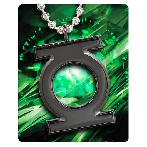 Green Lantern Black Emblem Pendant Necklace