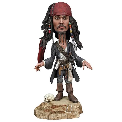 Pirates of the Caribbean 2 Jack Sparrow Head Knocker