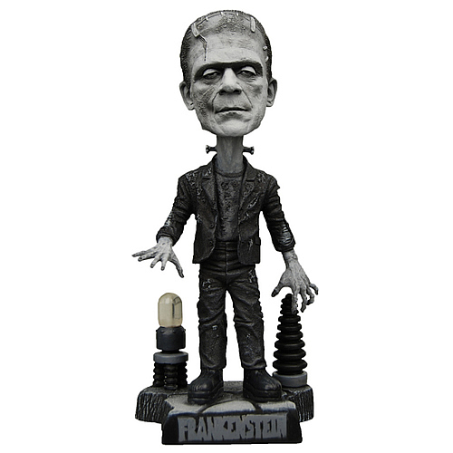 Universal Monsters Frankenstein Black and White Bobble Head