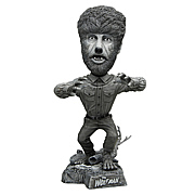 Universal Monsters Wolfman Black and White Bobble Head