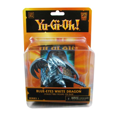 Yu-Gi-Oh! Blue Eyes White Dragon Mini-Figure and Dlx Display