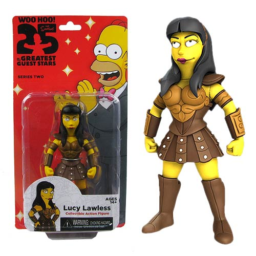 Simpsons Lucy Lawless 5-Inch Series 2 Action Figure