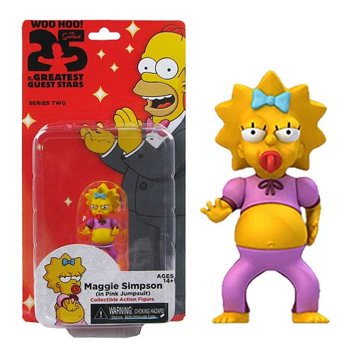 Simpsons Maggie Pink Jumpsuit 5-Inch Series 2 Action Figure