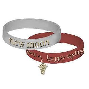 Twilight New Moon Happy Ending Rubber Bracelet 2-Pack