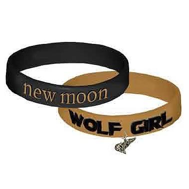 Twilight New Moon Wolf Girl Rubber Bracelet 2-Pack
