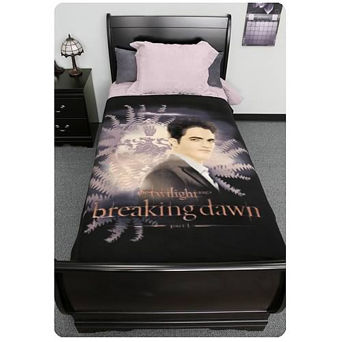 Twilight Breaking Dawn Edward with Crest Fleece Blanket