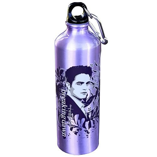 Twilight Breaking Dawn Edward Floral Water Bottle