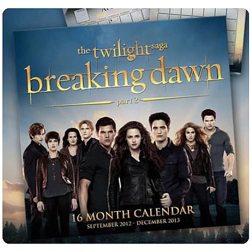 Twilight Breaking Dawn Part 2 16-Month 2013 Calendar