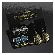 Twilight Breaking Dawn Part 2 Edward Earrings 3-Pack