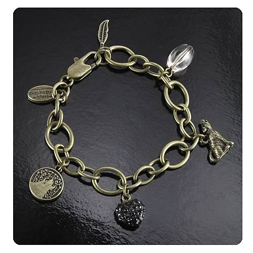 Twilight Breaking Dawn Pt 2 Wolf and Feather Charm Bracelet