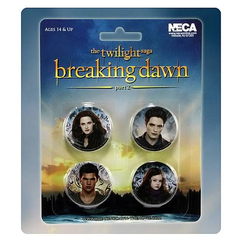 Twilight Breaking Dawn Part 2 Cast Pin 4-Pack