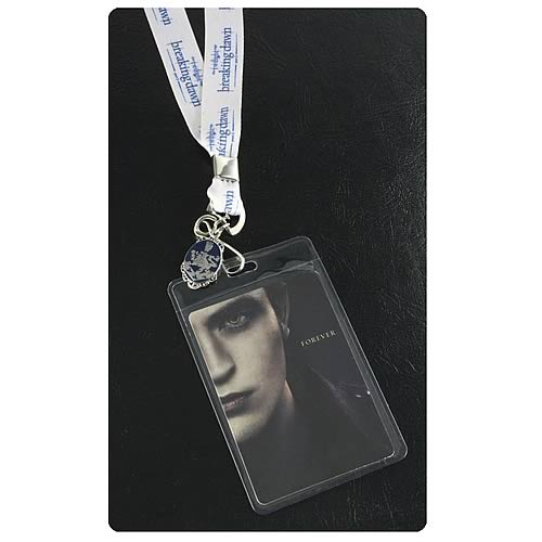 Twilight Breaking Dawn Pt 2 Edward Lanyard with Metal Charm