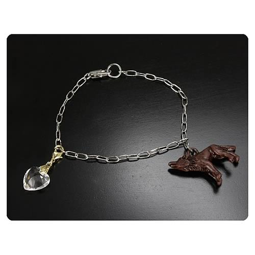 Twilight Breaking Dawn Pt 2 Bella's Wolf and Heart Bracelet