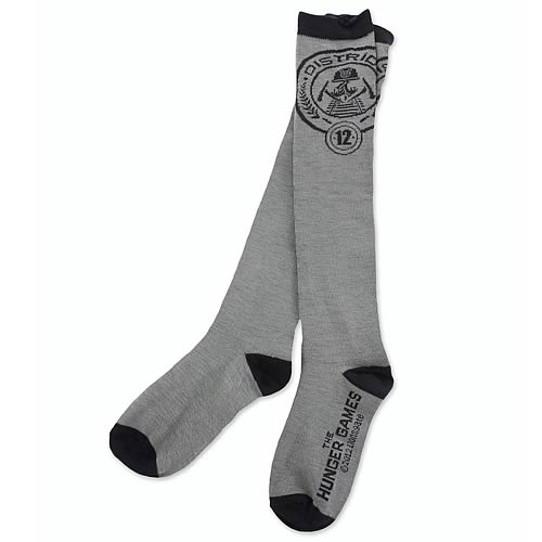 Hunger Games Movie Capitol Coal Socks