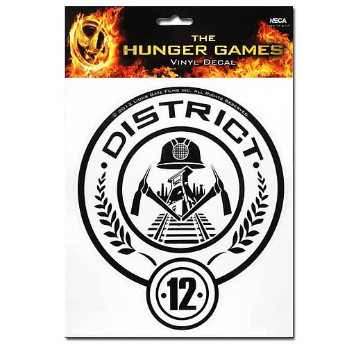Hunger Games Movie District 12 Stickers