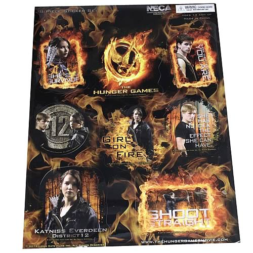 Hunger Games Movie Sticker Set 8-Pack