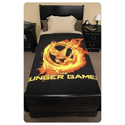 Hunger Games Movie Mockingjay Polar Fleece Bed Throw